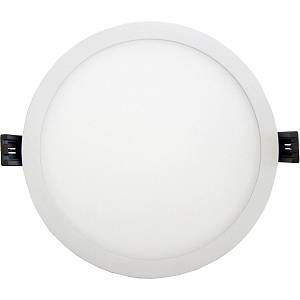 Silamp Downlight Dalle LED Plate Ronde Blanc 8W - couleur eclairage : Blanc Neutre 4000K - 5500K