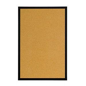 Bi-office Tableau d'affichage en liège, avec Cadre en MDF Noir, 60x40 cm