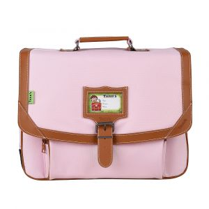 Tann's Cartable 38 cm 2 Compartiments CP/CE1 + Trousse Rose