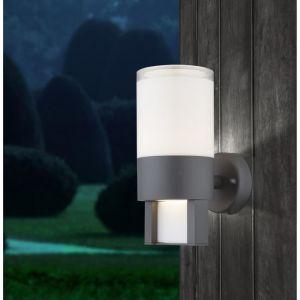 Globo Lighting Applique extérieure alu fonte gris - Plastique opal translucide