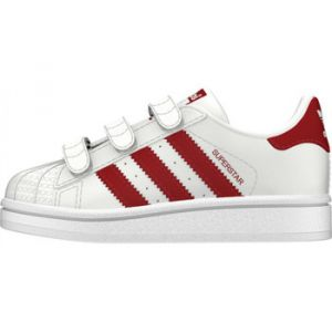 Adidas Chaussures enfant Baskets SUPERSTAR CF - CG6639 blanc - Taille 23,24,25,26,27