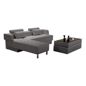 Canapé d'angle réversible et convertible Winch 5 places en cuir