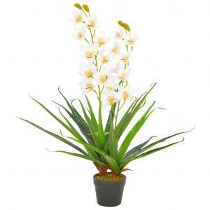 VidaXL Plante artificielle avec pot Orchidée Blanc 90 cm