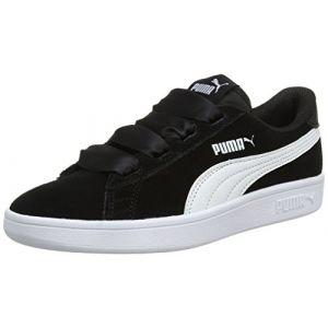 Puma Smash V2 Ribbon Jr, Sneakers Basses Fille, Noir Black White, 37 EU
