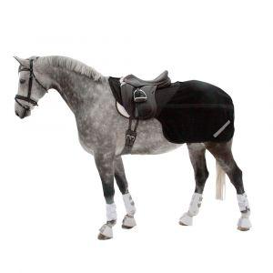 Back On Track Couvre-reins Long En Polaire Pour Chevaux Lg : 145 Cm - Noir