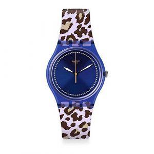 Swatch Mixte Analogique Quartz Montre avec Bracelet en Silicone GV130