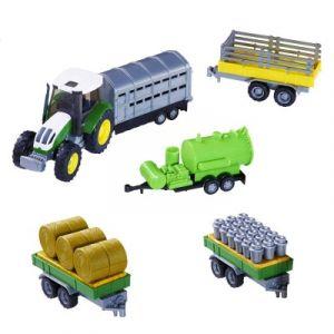 John World Tracteur vert et accessoires ferme
