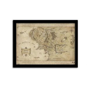 Pyramid International Le Hobbit Un Voyage Inattendu Poster Encadré Middle Earth Map 42