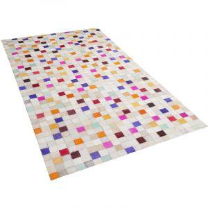 Beliani Tapis en cuir multicolore 80 x 150 cm ADVAN