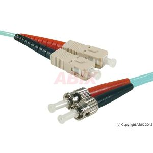 Abix 391803 - Câble jarretiere fibre optique duplex SC/ST OM3 50/125 5m