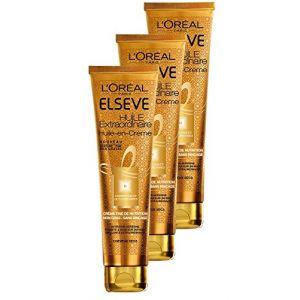 L'Oréal Elsève Huile-en-Crème de Nutrition sans Rinçage pour Cheveux Secs 150 ml