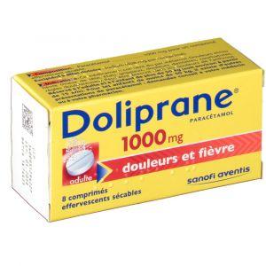 Sanofi Doliprane 1000 mg - 8 comprimés effervescents