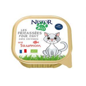 Nestor Bio Fricassees saumon pour chat bio 100gr
