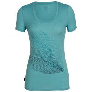 Icebreaker Tech Lite SS Scoop Plume T- T-Shirt Femme, Ocean, FR : L (Taille Fabricant : L)