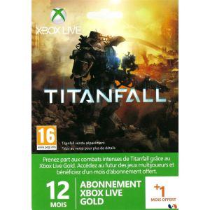 Microsoft Carte Abonnement Xbox Live Gold 12 mois + 1 mois offert - Edition Titanfall