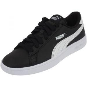 Puma Smash V2 L Jr, Sneakers Basses Mixte Enfant, Noir Black White, 39 EU