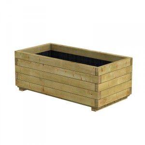 Jardin Outdoor Bac rectangle en bois épicéa autoclave pot 100 x 50 x 39cm - Traité contre les fongicides