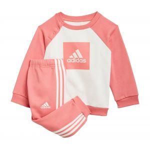 Adidas Ensemble bébés 3-Stripes Fleece Rose - Rose - Taille 98 cm