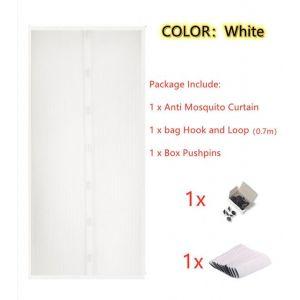 Taille 150 x 220cm Blanc Type 1 Moustiquaire magnétique de grande taille pour porte, fermeture automatiqu