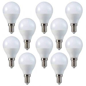 V-TAC LED 3 W P45 ampoules balle de golf - Lot de 10 - E14/SES/petit culot à vis Edison - Blanc Froid 6400 K/250 lumens/plastique Finition/25 W Ampoule à incandescence équivalent