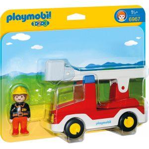 Playmobil 6967 - Camion de pompier avec échelle pivotante 1.2.3.