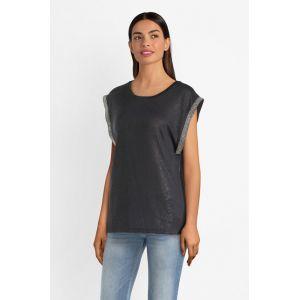 Le Temps des Cerises FKIFLASH00000SM T- T-Shirt, Bleu (Midnight 3221), X-Small (Taille Fabricant:XS) Femme