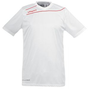 Uhlsport Stream 3 Manches Courtes Maillot Homme, Blanc/Rouge, FR : XXL (Taille Fabricant : XXL)