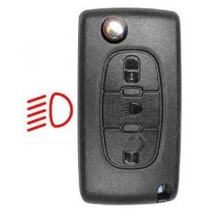 Neoriv Coque de clé télécommande adaptable + lame PSA308P