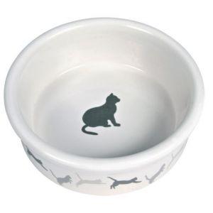Trixie Ecuelle chats céramique avec motifs - 0,2 L/ø 12 cm