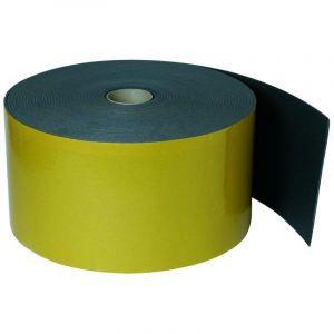 Aldes Joint de traversée de dalle adhésif 220 mm X 25 ml - EP5 - 11090054 Désolidarisation des conduits et des dalles ou murs. Permet d'amortir les vibrations solidiennes. Matelas résiliant en mousse polyéthylène M1 avec auto adhésif. Rouleau de 25m, larg
