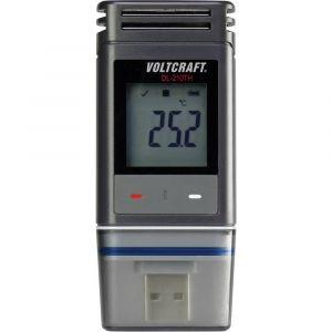 Voltcraft Enregistreur de données de température -30 à +60 °C et d'humidité 0 à 100 % RH DL-210TH Etalonné selon d'usine