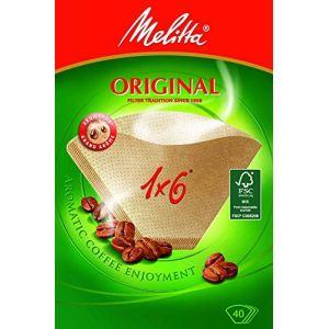 Melitta Filtre à café cornet original en papier boîte de 40