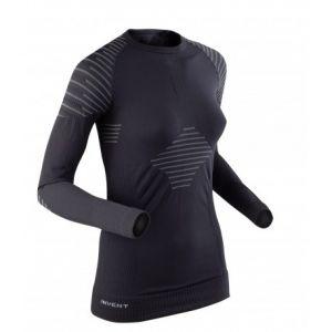X-Bionic Invent T-Shirt manches longues Femme Multicolore (Noir/Anthracite) FR : L (Taille Fabricant : L)