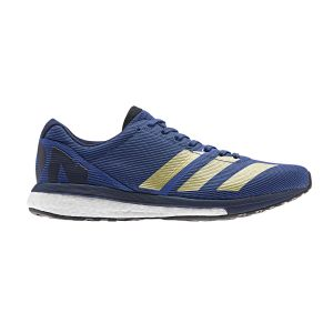 Adidas Adizero Boston 8 M, Chaussures de Running Homme, Bleu Collegiate Royal/Gold Met./FTWR White, 44 EU
