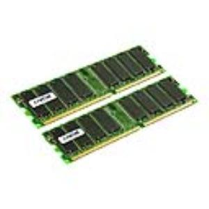 Crucial CT2KIT12864Z40B - Barrettes mémoire 2 x 1 Go DDR 400 MHz 184 broches
