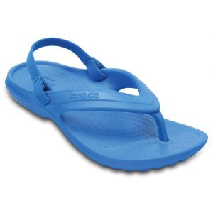 Crocs Classic Flip Kids, Tongs Mixte Enfants, Bleu (Ocean), 22-23 EU (C6 UK)