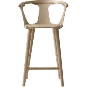 &tradition Chaise de bar In Between SK7 / H 65 cm - Chêne chêne blanchi en bois
