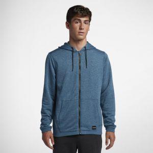 Nike Sweat à capuche Hurley Dri-FIT Disperse Full-Zip pour Homme - Bleu - Taille S