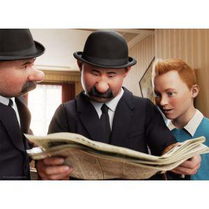 Nathan Puzzle Les aventures de Tintin: Tintin et les Dupondt 100 pièces