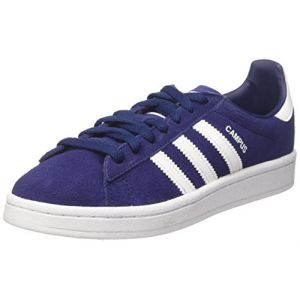 Adidas Campus, Baskets Basses Mixte Enfant, Bleu (Dark Blue/Footwear White/Footwear White), 36 EU