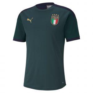 Puma Maillot d'entraînement Italia pour Homme, Vert/Bleu, Taille M