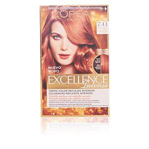L'Oréal Excellence 7.43 Blond Cuivré Doré - Crème colorante triple protection