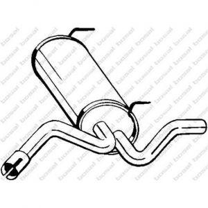 Bosal Silencieux arrière 128-021