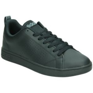 Adidas Advantage Clean Vs Mixte Adulte, Cuir Lisse, Sneaker Low, Noir (Core Black/Core Black/Lead), 45 1/3