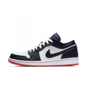 Nike Chaussure Air Jordan 1 Low pour Homme Bleu Couleur Bleu Taille 48.5