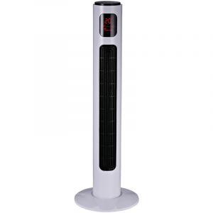 Homcom Ventilateur colonne tour programmable oscillant silencieux 45 W avec télécommande