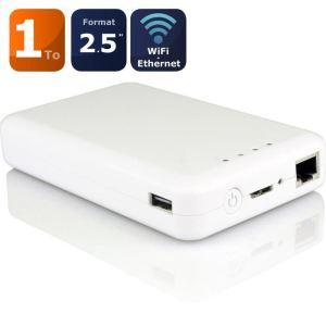 Storex WZ20519 - Disque dur externe weZee Disk 1 To USB 3.0 WiFi