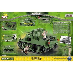 Cobi Petite Armée - M3 Lee - 530 Pièces, 2 Figurines