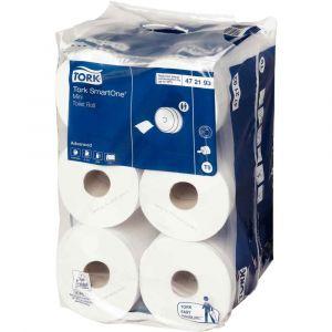 Tork Papier toilette Smartone mini rouleaux double épaisseur - Carton de 12
