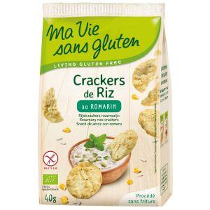 Ma vie sans gluten Crackers de riz au romarin bio en sachet de 40 g